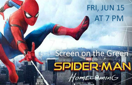 Screen on the Green: Spider Man Homecoming Movie Night